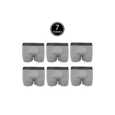 Imagem de Kit 7 Cueca Box de Algodão Cinza Cotton Boxer Masculino C5