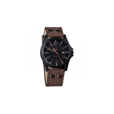 5cd97f82ef9 Relógio Masculino Pulso Soki Leisure Series Analógico Marrom -