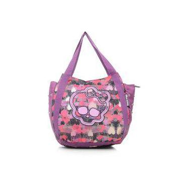 Bolsa Juvenil Sestini 16 T03 Roxa Estampada Monster High