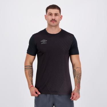 Camisa Umbro TWR Graphic Pró Velocita Preta e Cinza - P