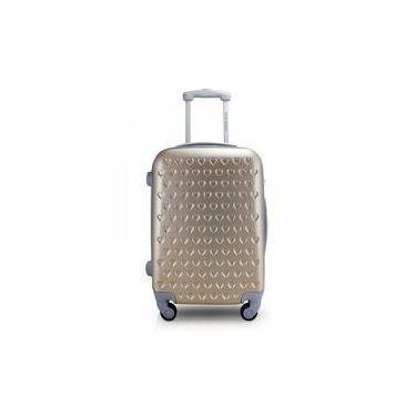 Mala de Viagem Dourada com Corações Love - Jacki Design APT17367