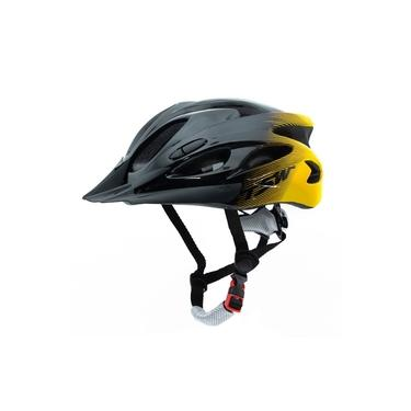 Capacete Para Bike In Mold Regulavel Com Led Traseiro Laranja Tamanho G 57/61 cm Tsw