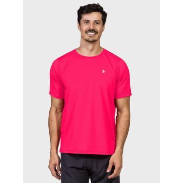 Camisa Uv Masculina Proteção Solar Extreme Uv Manga Curta New Dry Flúor Coral - P