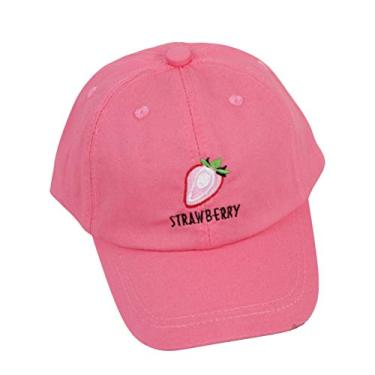 SOIMISS Crianças Verão Boné de Beisebol Padrão de Frutas Sun Block Chapéu Outdoor Sport Sport Headdress (Rosy, 50-52cm, 3-6 anos)