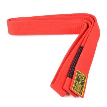 Faixa Especial Pretorian Vermelha Ponta Preta Jiu Jitsu - 05