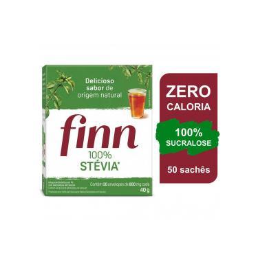 Adoçante em Pó Finn 100% Stevia c/ 50 Envelopes