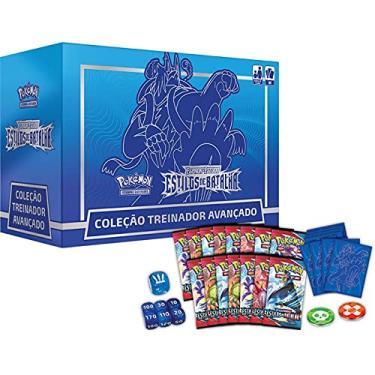 Imagem de Box Elite Pokémon Espada e Escudo 5 Estilos de Batalha Coleção Treinador Avançado Urshifu Golpe Fluido Gigamax Copag Cartas Cards