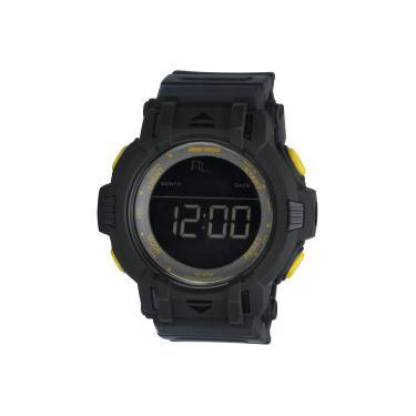 58d4d0b99fe Relógio Digital Mormaii MO08111 - Masculino - PRETO AMARELO Mormaii