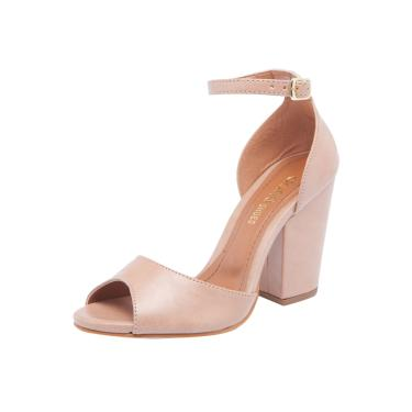 Sandália DAFITI SHOES Salto Grosso Nude Dafiti Shoes 236-2539 feminino 8bad601bfaab0