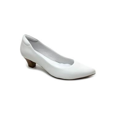 Imagem de Sapato Scarpin Feminino Neftali 4503 Couro Branco
