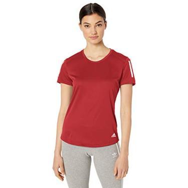 Adidas Camiseta de Corrida Feminina Own The Run, Active Maroon, Large