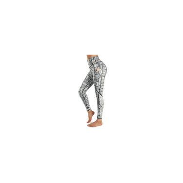Calça Legging Estampa de Cobra com Bolso Lateral