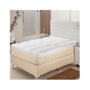 Imagem de Pillow Top Solteiro Fibra Siliconizada em Flocos 88x188x7 cm