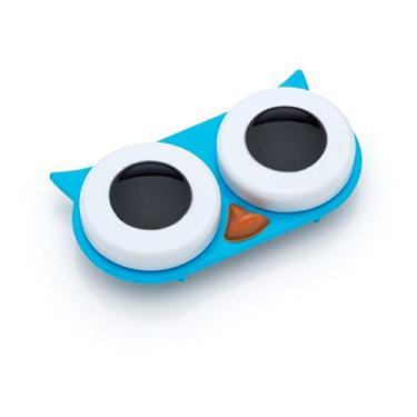 Imagem de Porta lentes de contato corujinha azul