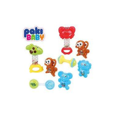 Imagem de Chocalho Animais 4 Peças - Paki Toys