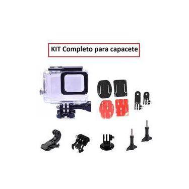 Kit Gopro Hero 5 6 7 Caixa Estanque Suporte Articulado Para Capacetes Suporte Jhook Adaptadores Adesivos 3m Tripod Mount