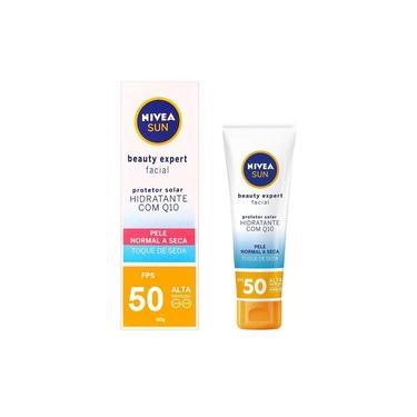 Protetor Solar Beauty Expert Facial Pele Normal a Seca Toque Seda Hidratante Com Q10 FPS50 50g Nivea 1 Unidade