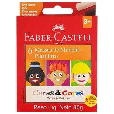 Imagem de Massinha de Modelar 6 Cores Caras e Cores Faber Castell 1030386