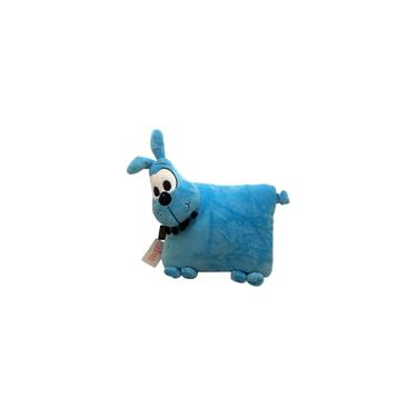 Imagem de Almofada M De Pelúcia Boneco Cachorro Cachorrinho Azul Bidu - Personagem Do Desenho Infantil Turma Da Mônica - Tasco Brinquedos