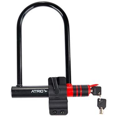 Cadeado U Lock para Bike 180mm de Largura 240mm de Comprimento Aço/Silicone Preto - BI083 Atrio