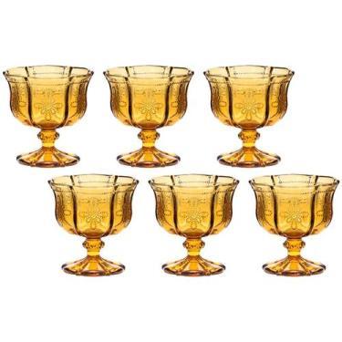 Jogo de Taças para Champagne de Vidro 230ml - 6 Peças Bon Gourmet Knot