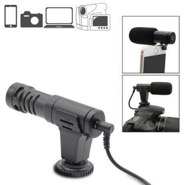 Microfone Shotgun Estéreo Mamen MIC-06 Condensador HD Mini para Câmeras e SmartPhones