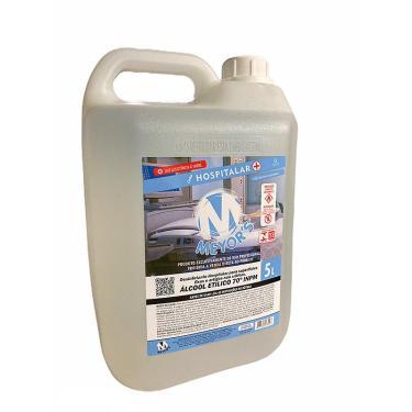 Álcool Líquido Etílico Hidratado 70 Inpm 5 Litros