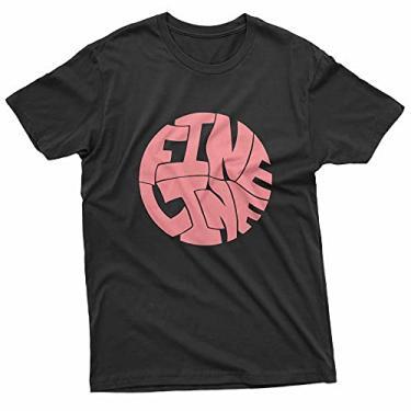 Imagem de Camiseta Básica Unissex Algodão Harry Styles Fine Line Álbum Pop (Rosa Bebê, GG)