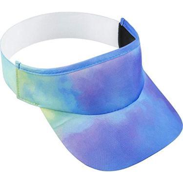 Viseira para Corrida Hupi Tie-dye Roxo/azul, Cor: Roxo/azul
