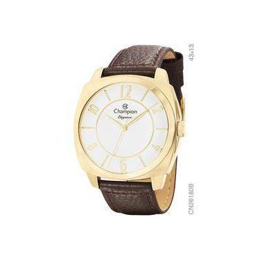 32f8396ad33 Relógio Champion Feminino Dourado Elegance Cn26180b