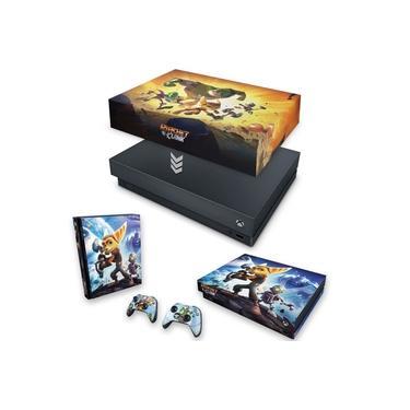 Capa Anti Poeira e Skin para Xbox One X - Ratchet And Clank