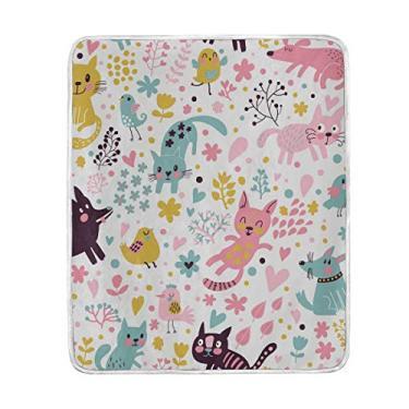 La Random ALAZA Cobertores Doces Engraçados Cachorros Sofá Sofá Cama Cobertor Sofá Cama 127 x 152 cm