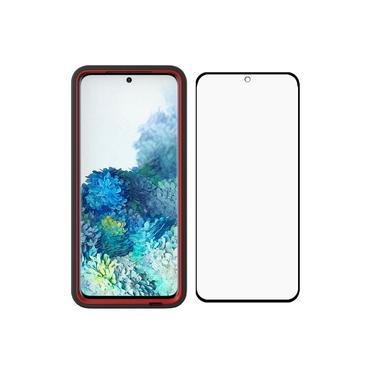 Capa Protetora Y-Cover Xtream Transparente Preta Samsung Galaxy S20 Com Película Protetora