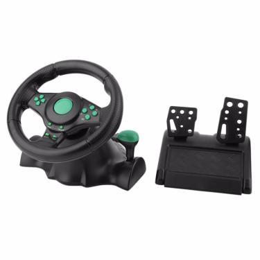 180 graus de rotação gaming vibração corrida volante com pedais para xbox 360 para ps2 para ps3 pc