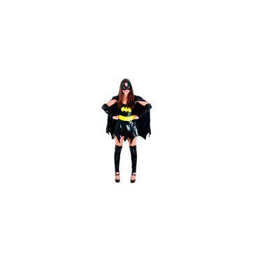 Imagem de Fantasia Batgirl Teen Luxo Completa Com Capa E Máscara