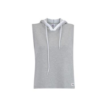 2aebcc8f9eae0 Camiseta com Capuz Estilo Colete Fila Vest Athenas - Feminina - CINZA CLARO  Fila