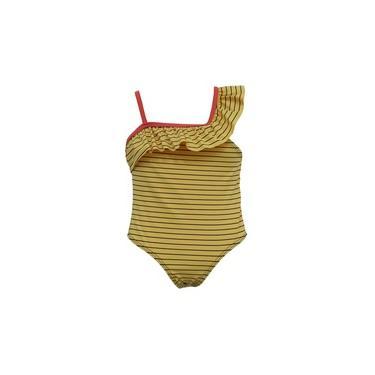 Maiô Madu Listrado Amarelo-0