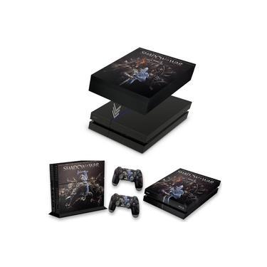 Capa Anti Poeira e Skin para PS4 Fat - Shadow Of War