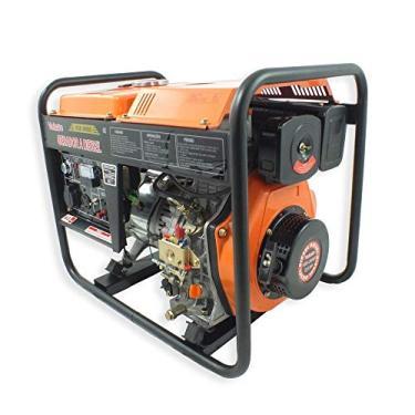 Gerador de Energia à Diesel 4T Partida Elétrica e Manual com Bateria 3,60kVA Bivolt-VULCAN-VGE-3600D