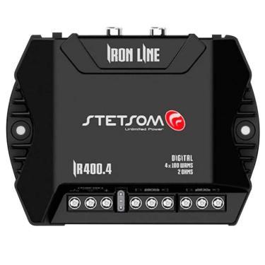 Módulo Amplificador Stetsom Iron Line IR400.4 400W RMS 2 Ohms 4 Canais
