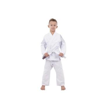 Kimono Infantil Jiu jitsu / Judô Algodão Leve e Reforçado - Branco - Naja