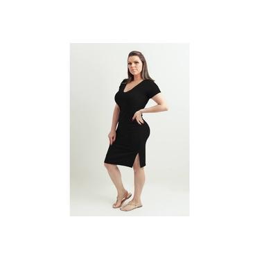 Vestido Amamentação e Gestante Paola - Preto