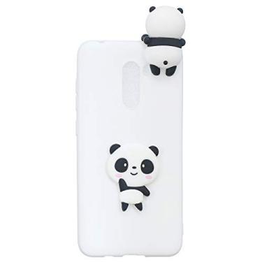 Hicaseer Capa para Xiaomi Pocophone F1, linda capa criativa de TPU à prova de quedas à prova de choque e resistente a arranhões para Xiaomi Pocophone F1 - panda branco