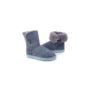 Imagem de Bota Feminina Illi Boots Pele Ovina Cinza - 1005