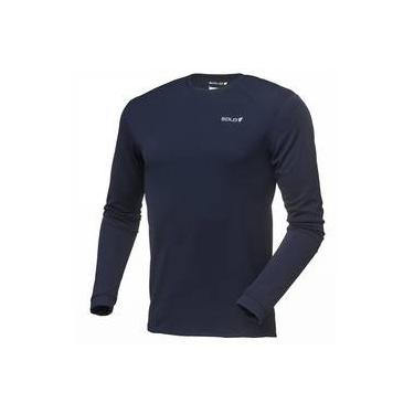 Blusa Esportiva Camiseta Isolamento térmico Americanas  e228f889f97c5