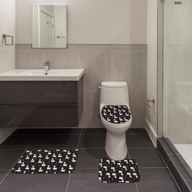 Imagem de Jogo de Banheiro Natal Lhama Preto Único