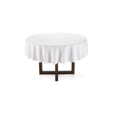 Imagem de Toalha de Mesa Karsten Veríssimo Easy Wash Redonda 178 cm Branco