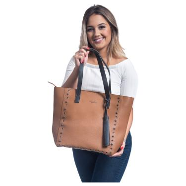 Bolsa Sacola Shopper Willibags Caramelo  feminino