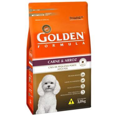 Ração Seca PremieR Pet Golden Formula Carne e Arroz para Cães Adultos de Raças Pequenas - 3 Kg