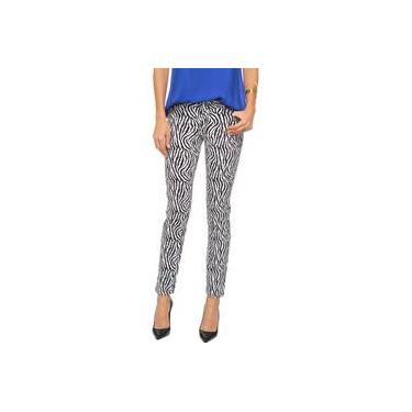 Calça Jeans Thelure Estampa Zebra